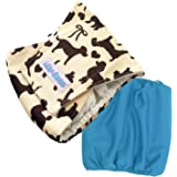 Lilo & Sons Cool Puppy Design Washable Male Dog Diapers Comfort Fit (Pack of 2) - Washable Male Dog Belly Wrap