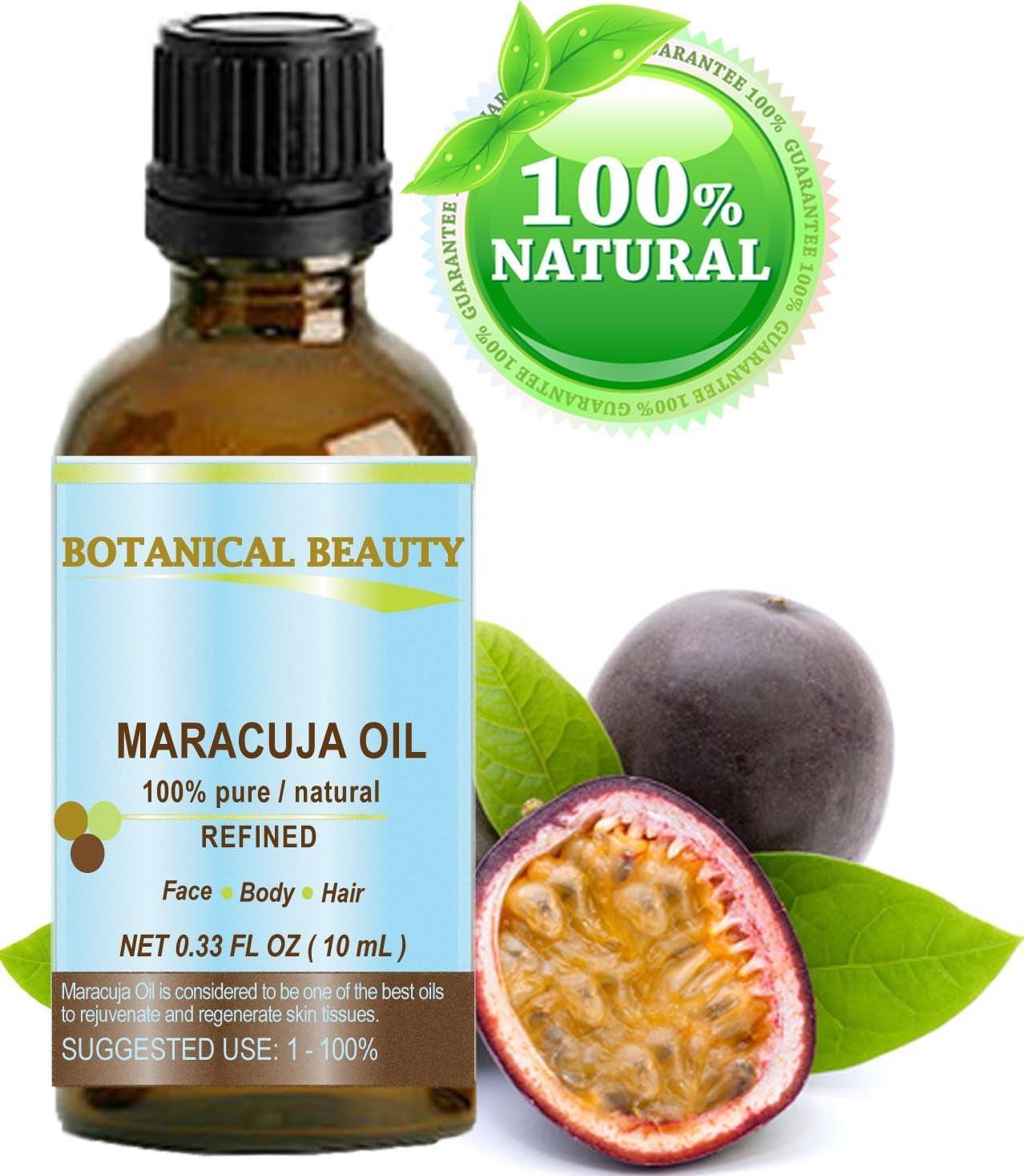 fruta de la pasión aceite. 100% puro/naturales. kaltgepr esste/unverwässert–10ml. Para Cara, pelo y cuerpo.