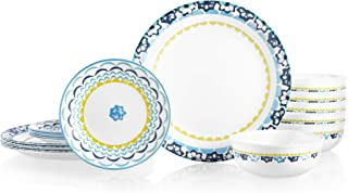 product image for Corelle Chip Resistant Dinnerware Set, 18-Piece, Boho Daydream