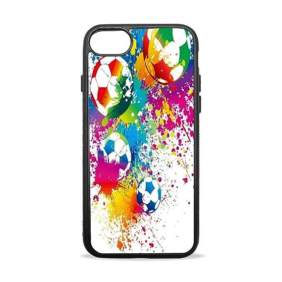 ecfb9da962ce2 Amazon.com: Moving Football iPhone 7 Case iPhone 8 Case Design Soft ...