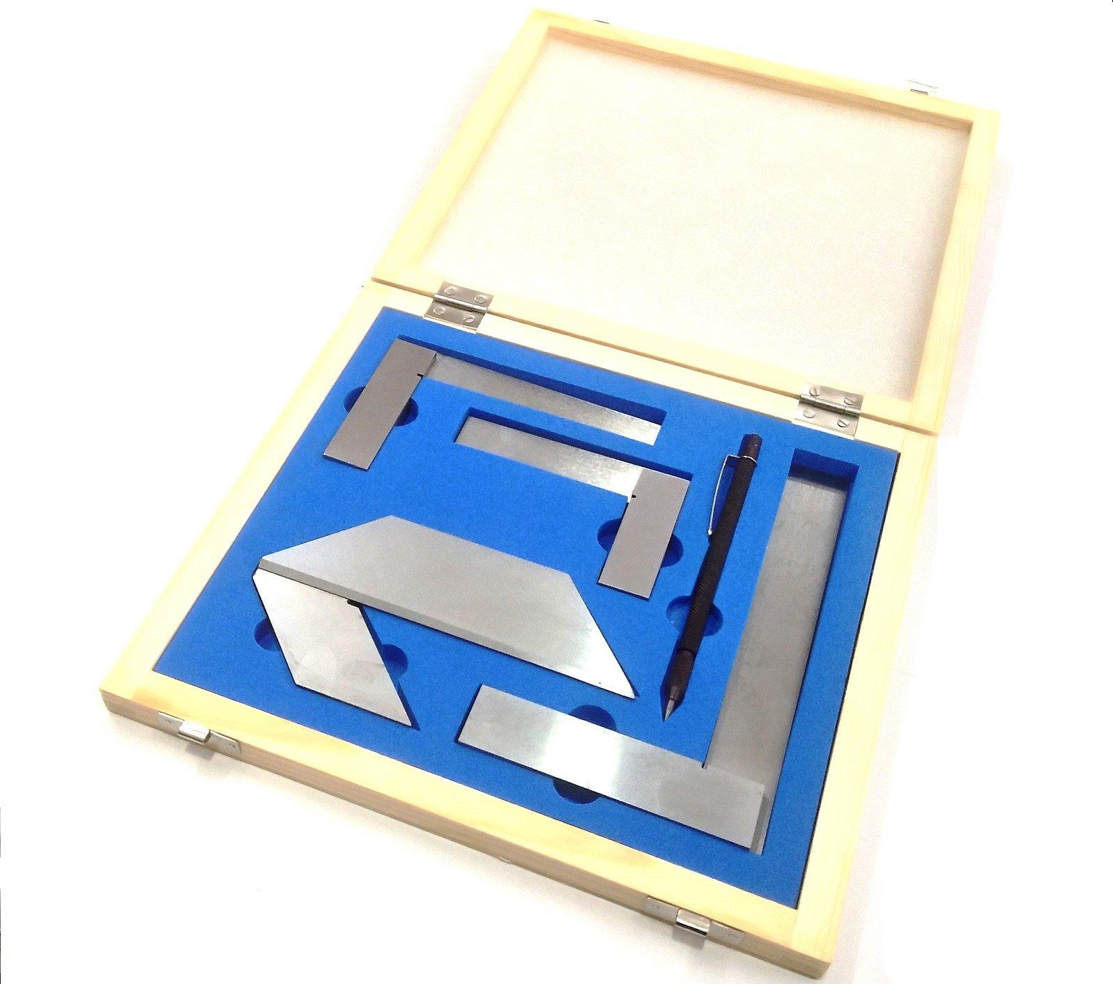 Starter Engineer Kit (Try Squares, Center Squares & Carbide Scriber Pen)//Wooden Packaging