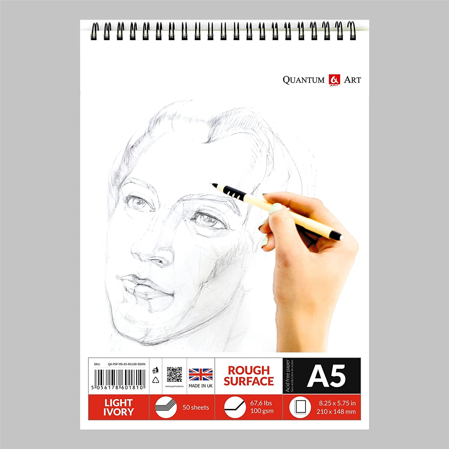 Bleedproof Sketching Drawing Marker Paper Pad 50 sheets 75gsm Gummed
