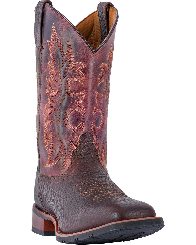 Laredo Mens Durant Square Toe Rust Boots B075RFHVVZ 11 EEEE US|Dark Brown