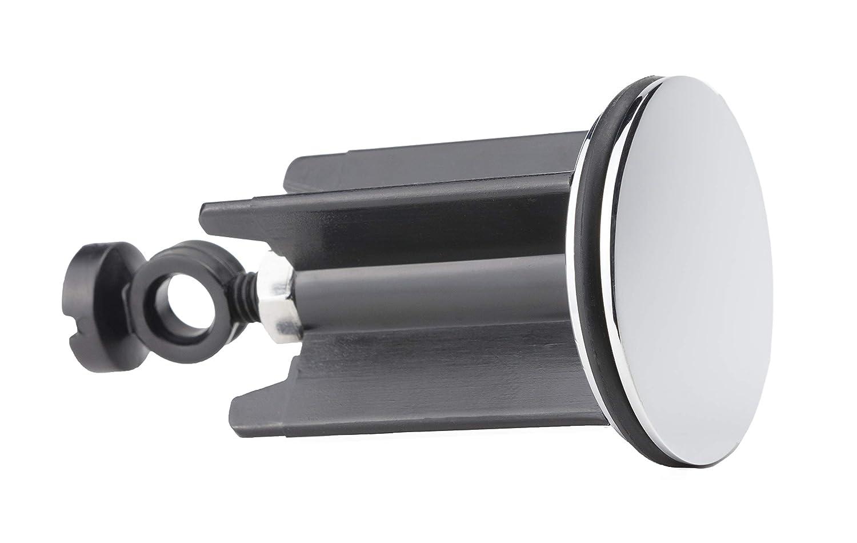 Kitchen Helpis/® 1 Tappo di Scarico di Qualit/à Tappi per lavandini regolabile in altezza tra 6,5cm Tappi per tutti gli scarichi standard 10cm Tappo universale per Lavabo Tappi per bagno ⌀40 mm