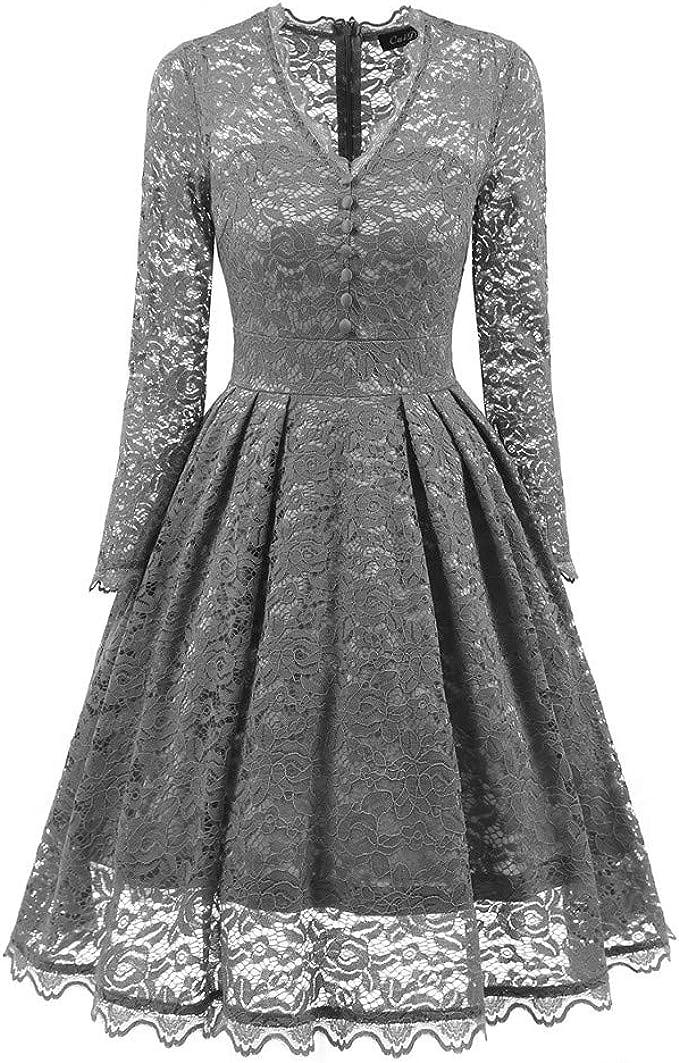 Langes Kleid Fur Frauen Langarm Casual V Ausschnitt Kleid Gaze Ausschnitt Volant Hem Party Kleid Amazon De Bekleidung