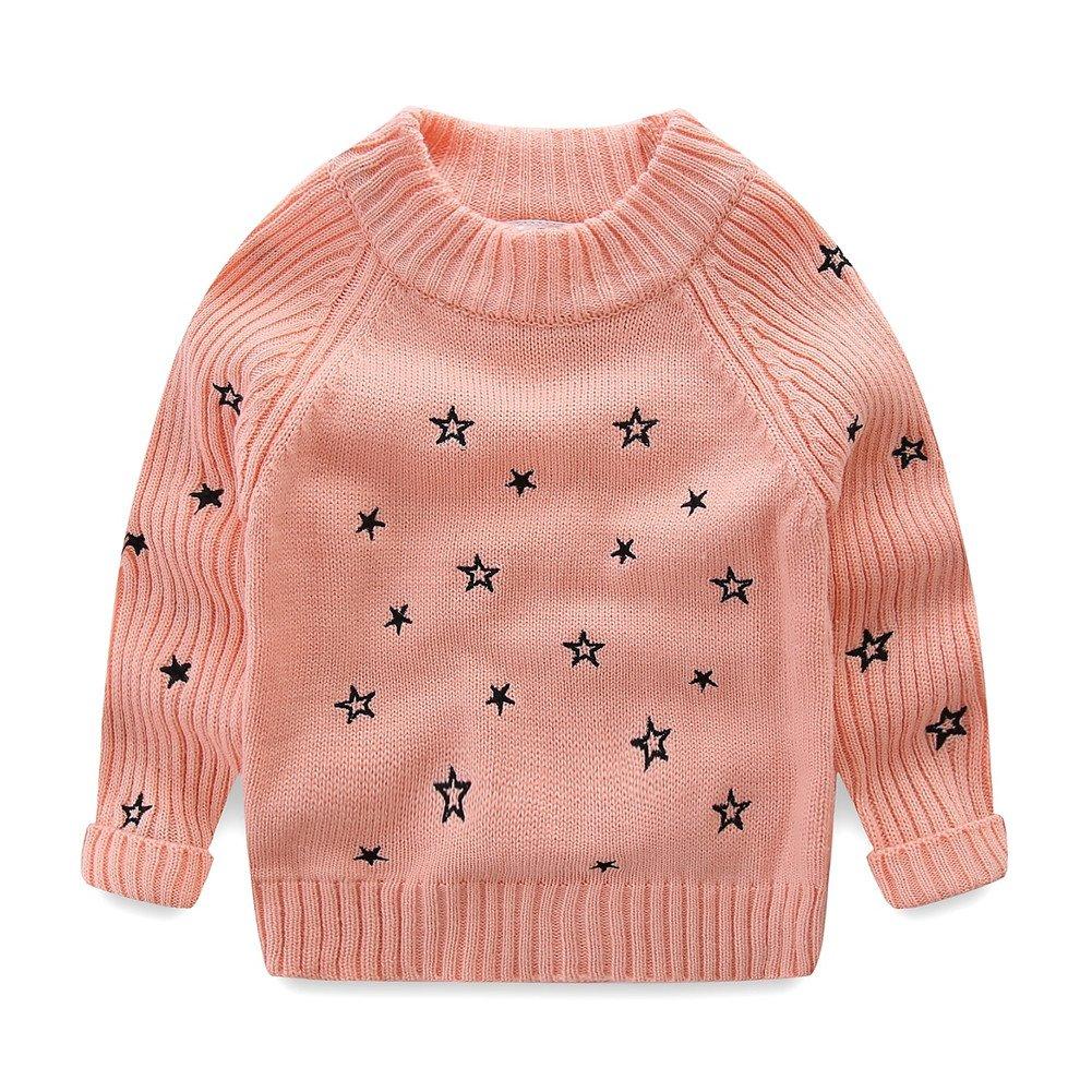 LittleSpring Little Girls Sweater Winter Wool Star SLZ-S0417-usa