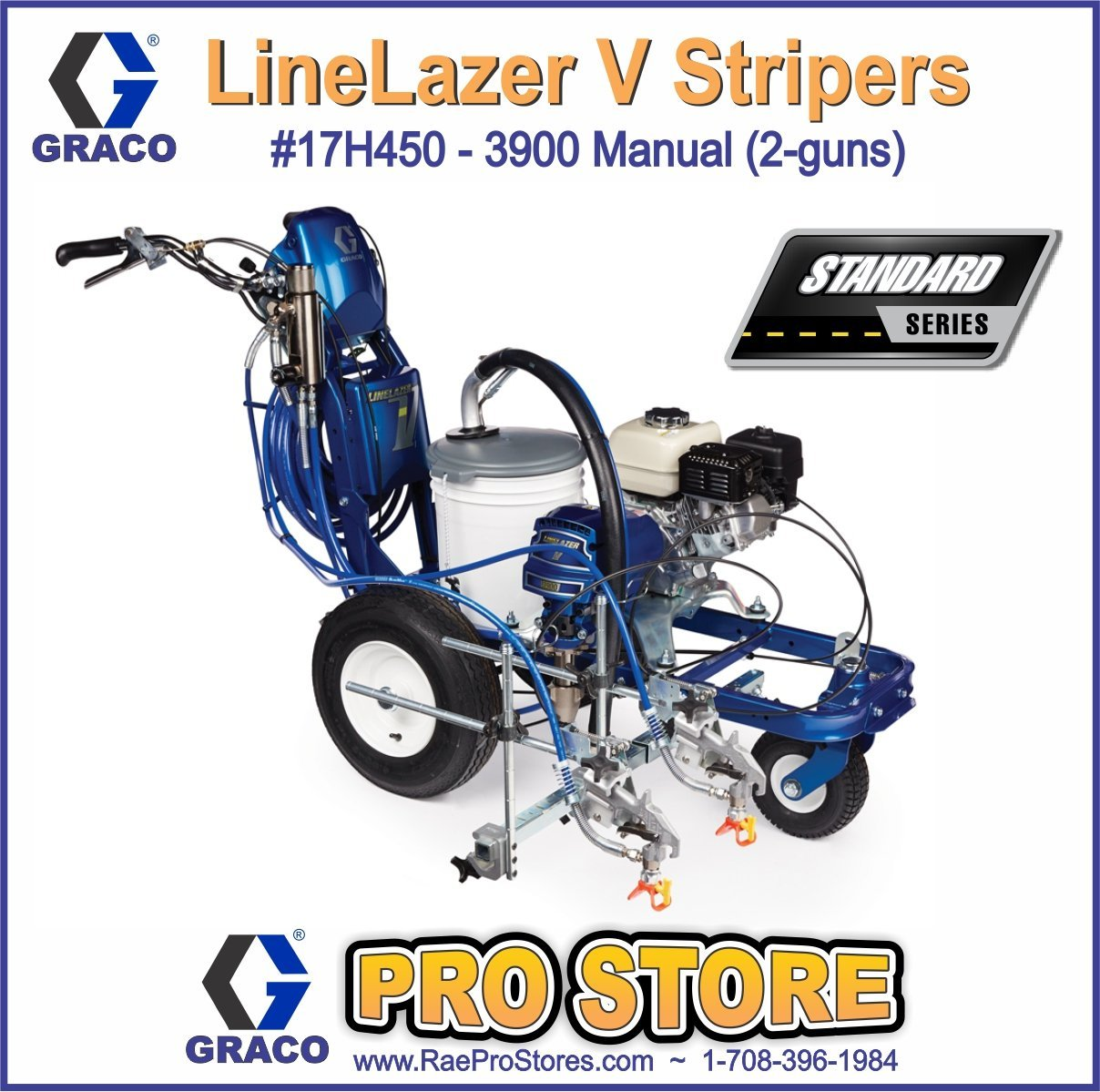 Graco LineLazer V 3900 Standard - 2-Manual Guns - Airless Paint Line  Striper - 17H450: Amazon.com: Industrial & Scientific
