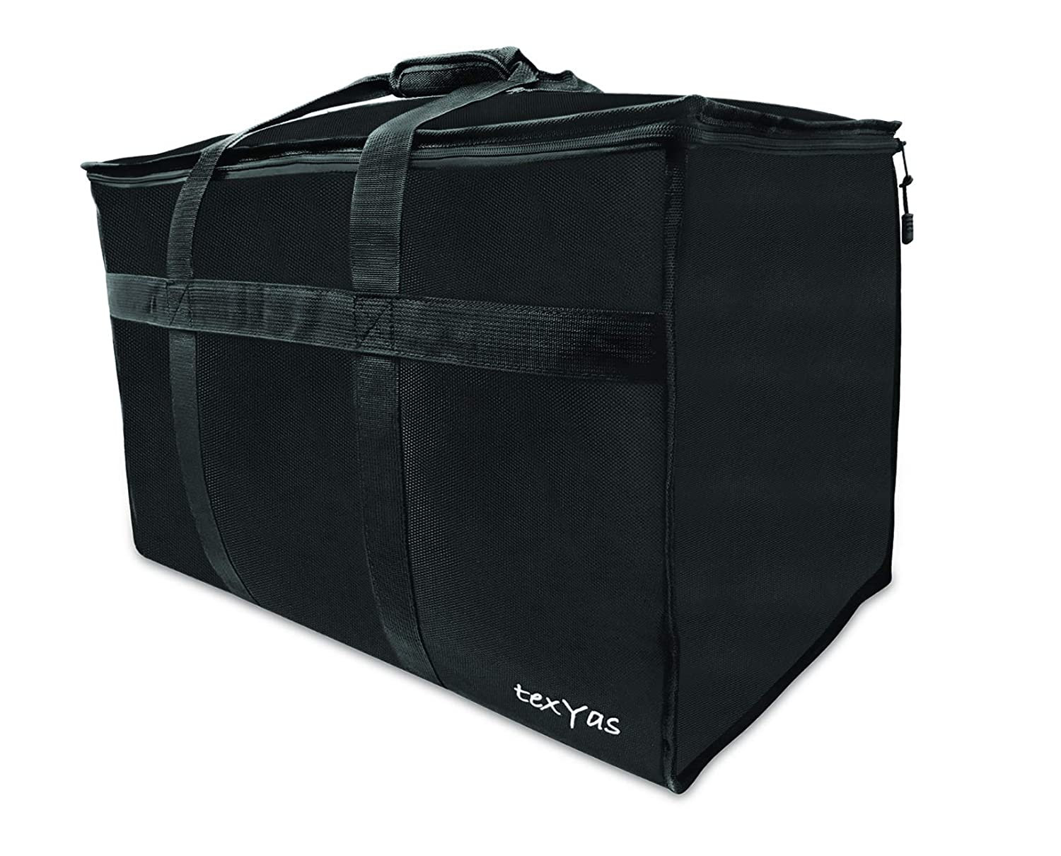 TexYas Extra Large Insulated Thermal Food Delivery Bag Commercial Grade, Ideal for Groceries, Catering, Instacart, Uber Eats, Grubhub, Postmates, Doordash and Restaurant use Washable, Leakproof