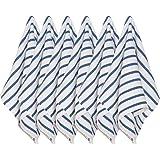Now Designs Basketweave Kitchen Towel, Set of Six, Royal Blue