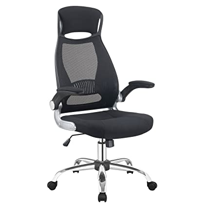 Amazon Com Adjustable High Back Mesh Executive Desk Chair Model Office Chair With Lumbar Supportblack Kitchen Dining