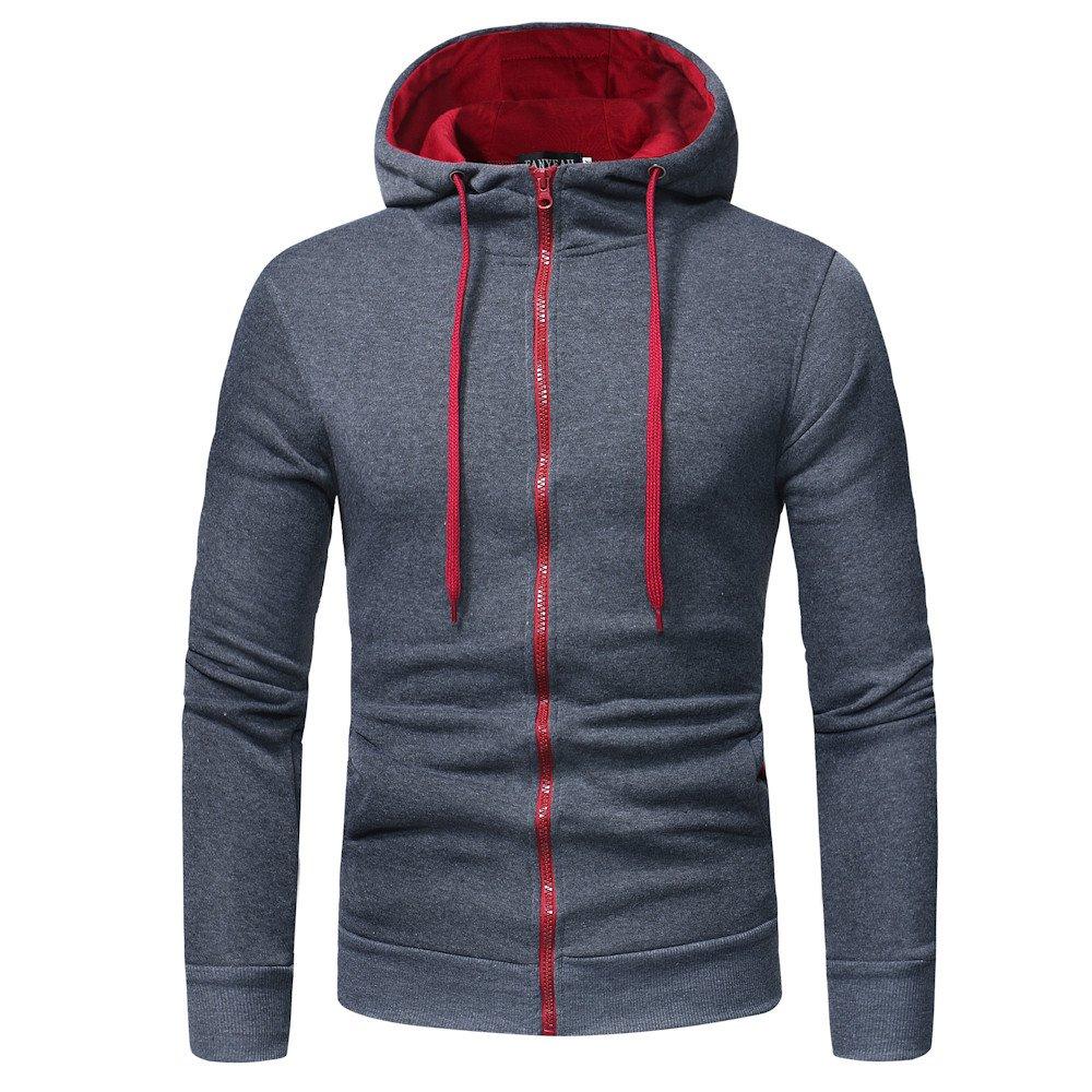 Hoodie Sweatshirt Herren Btruely Herbst Winter Lose Retro M/änner Pullover Langarm Outwear L, Kaffee