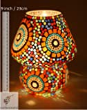 EarthenMetal Multicolour Mosaic Style Dome Shaped Glass Table Lamp Product from only Earthenmetal