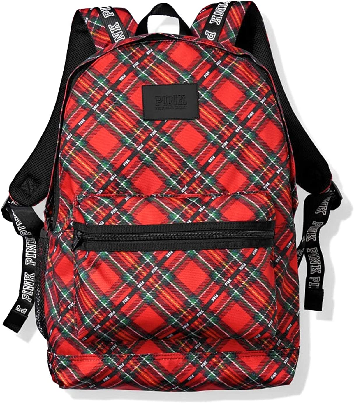 Victoria s Secret Pink Campus Backpack, Red Plaid