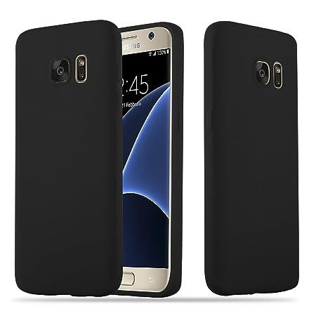 Cadorabo Hülle für Samsung Galaxy S7 - Hülle in Candy SCHWARZ – Handyhülle Schutzhülle aus TPU Silikon im Candy Design - Ultr