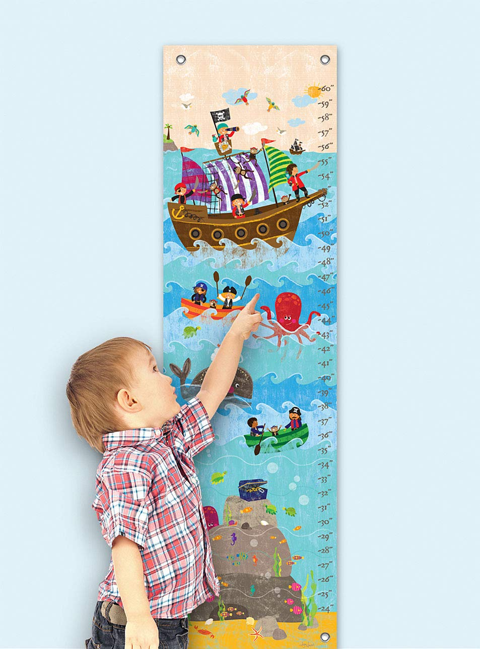 Swashbuckling Good Time 12 x 42 12 x 42 Fine Art for Kids NB20498 Oopsy Daisy Growth Chart