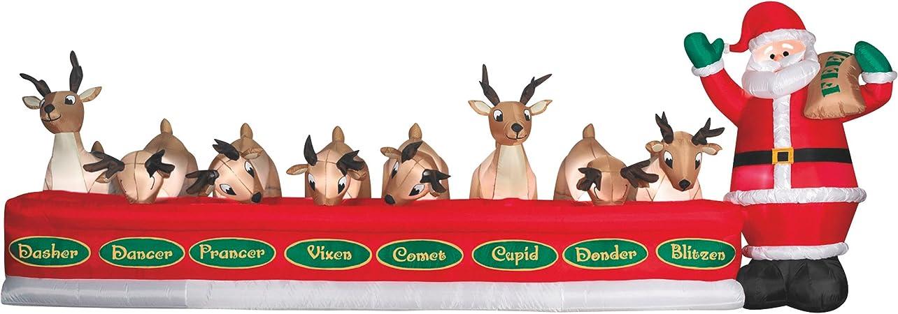 Amazon.com: Gemmy hinchable de Navidad Papá Noel 8 de ...