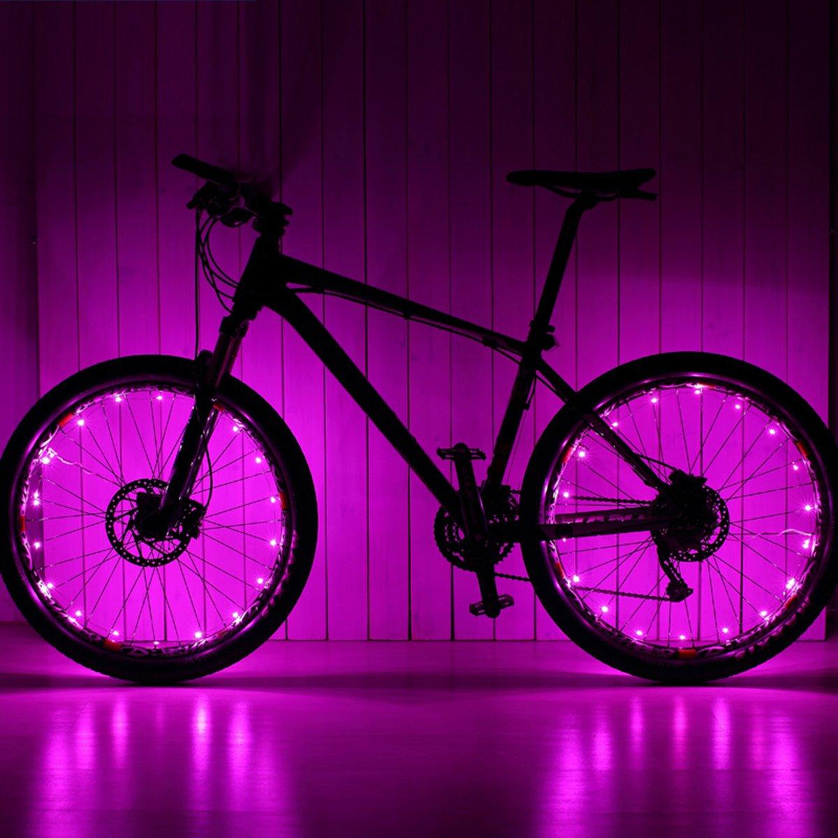 VORCOOL LED Bike Wheel Lights, Super Cool Lights Brilliant Bicycle Wheel Light String,USB Rechargeable Battery (1 Tire Pack)