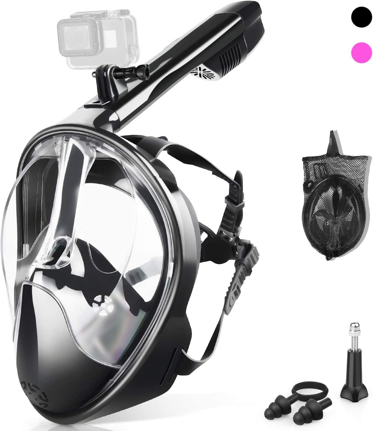 ZIPOUTE Full Face Snorkel Mask