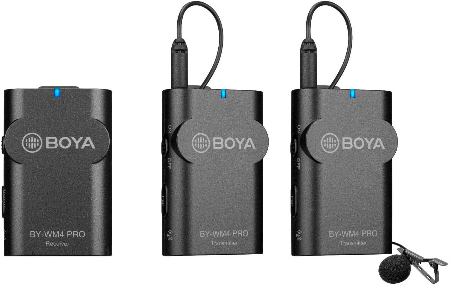 Boya 2 4 Ghz Duo Lavalier Mikrofon Drahtlos By Wm4 Pro K2