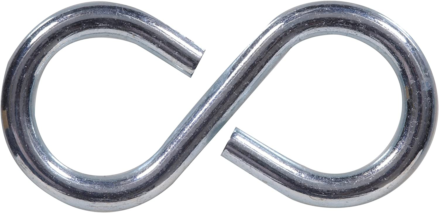 The Hillman Group The Hillman Group 704 Zinc S Hook 2 1//8 in 12-Pack