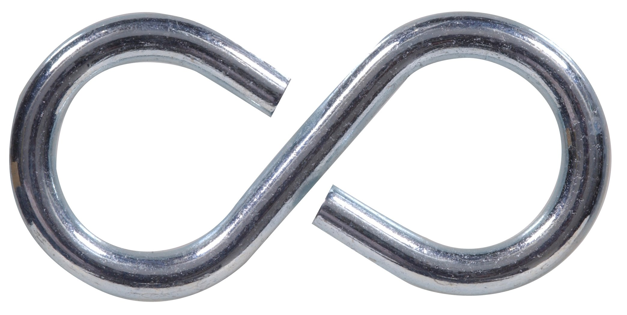 Hillman Hardware Essentials S Hook 1-5/8'', Zinc Finish, 100-Pack