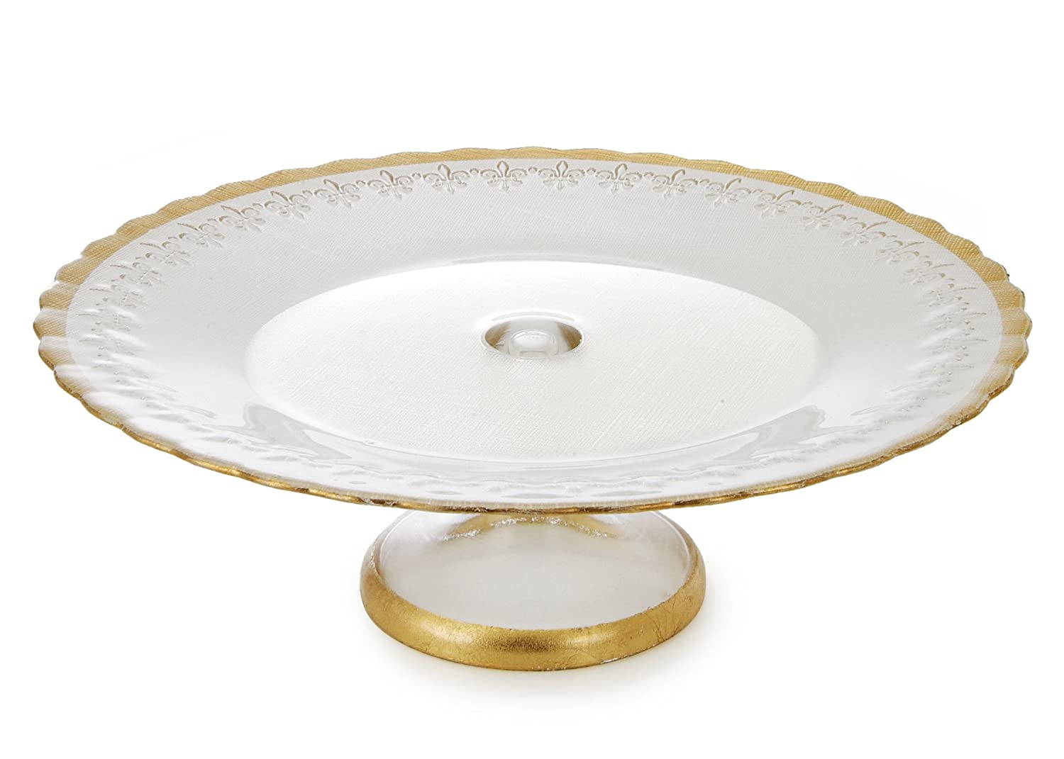 13-Inch Classic Touch Inc. Classic Touch CP320G Trophy Collection Cake Stand with Gold