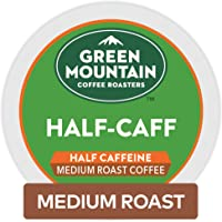 Green Mountain Coffee Roasters Half Caff Keurig Single-Serve K-Cup pods, Medium Roast Coffee, 72 Count