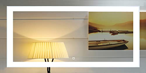 72X30 Inch Wall Mounted Led Lighted Bathroom Mirror