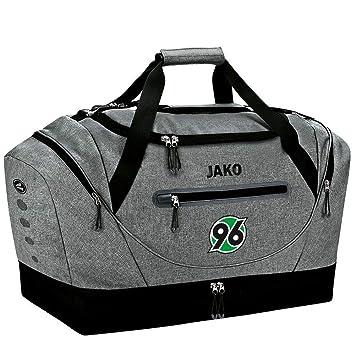 a2bc01dd27944 JAKO Hannover 96 Sporttasche Champ mit Bodenfach Junioren grau grau  meliert