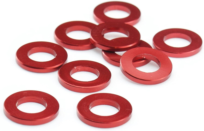 Unterlegscheiben M5 Aluminium Scheibe DIN 125 Alu rot eloxiert 5mm