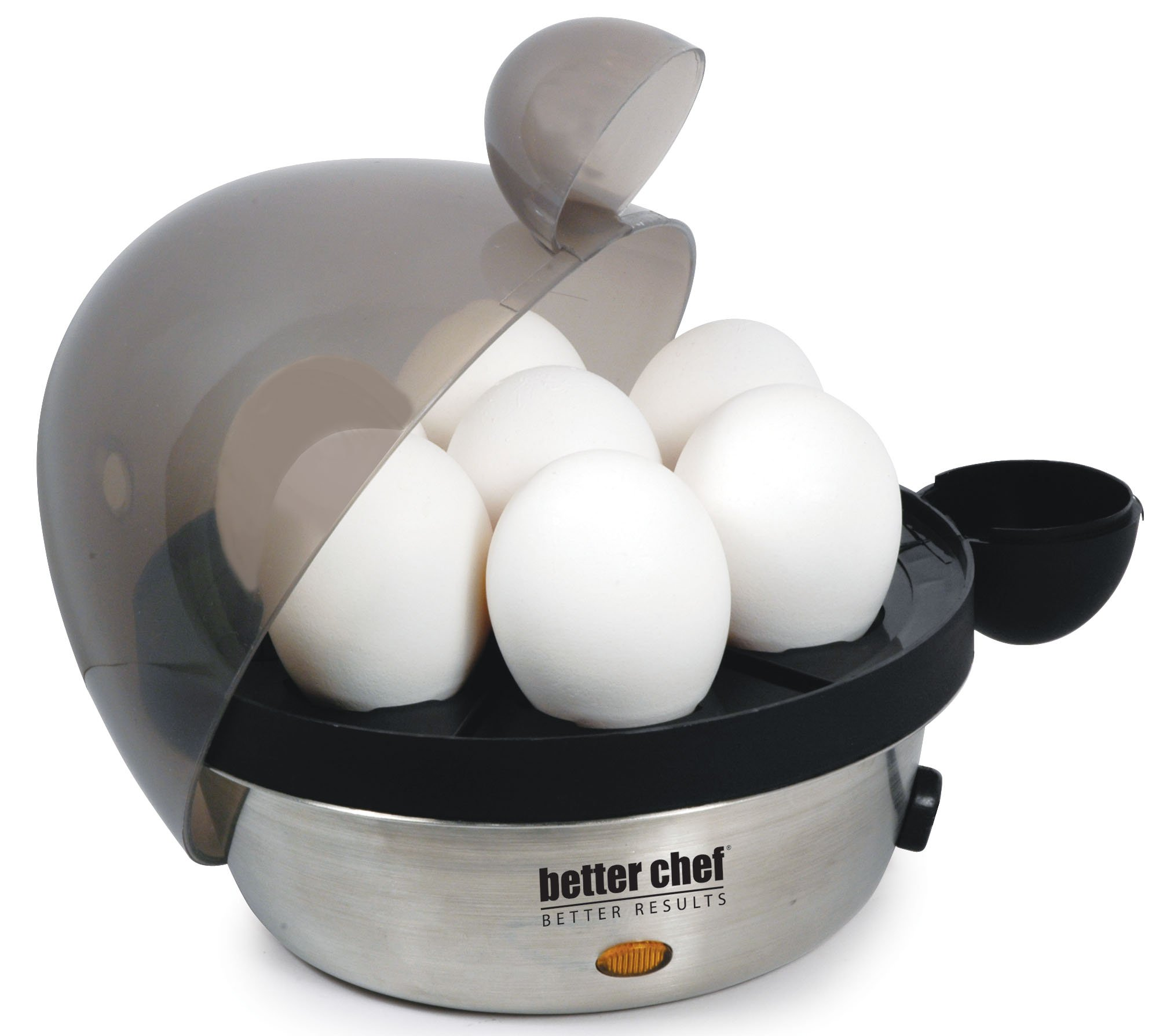 Better Chef IM-470S Stainless Steel Electric Egg Cooker | Boil up to 7 Eggs in a Matter of Minutes | Removable Cool Touch Tray | Durable Stainless Steel Base | See-Through Lid by Better Chef