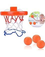 JBSON Juguetes de Baño, Divertido Juego de Baloncesto para Niños y Niñas Pequeños con 3 Pelotas