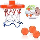 JBSON Bath Toys,Fun Bath Basketball Hoop for Kids Toddler with 3 Balls,Bathtub Shooting Game for Little Boys Girls