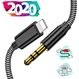 KEWANG Aux Cord for Car Nylon Braided Car Aux Cable for iPhone X//XS//11//11 Pro//11 Pro Max//8//8Plus//7//7Plus,3.5mm Male Stereo Audio Cable Car Aux Cable to Car Stereo//Speaker//Headphone 3.3FT-