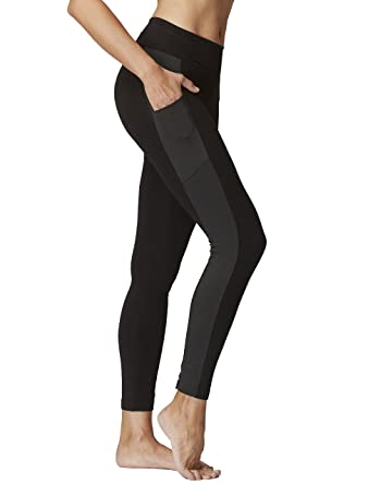 3b74be5cddfe6 TLC Sport Women's Flattering Ladies Slimming Waisted Leggings with Side  Pockets Black: Amazon.co.uk: Clothing
