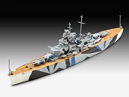 20,0 cm de Largo Escala 1: 1200 05822 Kit Modelo Revell Acorazado alem/án Tirpitz 5822
