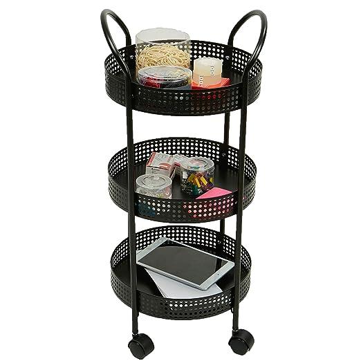 Mind lector 3 niveles para especias/carrito de cocina, negro: Amazon.es: Hogar