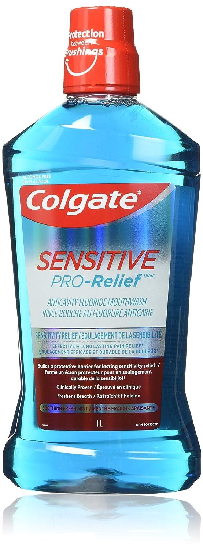 Colgate Sensitive Pro Relief Mouthwash Pro Argin Alcohol Free - Effective & Lasting Pain Relief (1000ml / 33.8 fl oz)