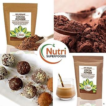 Cacao en Polvo Orgánico - Vegano, Ingrediente de chocolate oscuro ...
