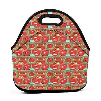 e15d433ac05d Convenient Lunch Box Tote Bag Kids Car Race Track Roadway Activity ...