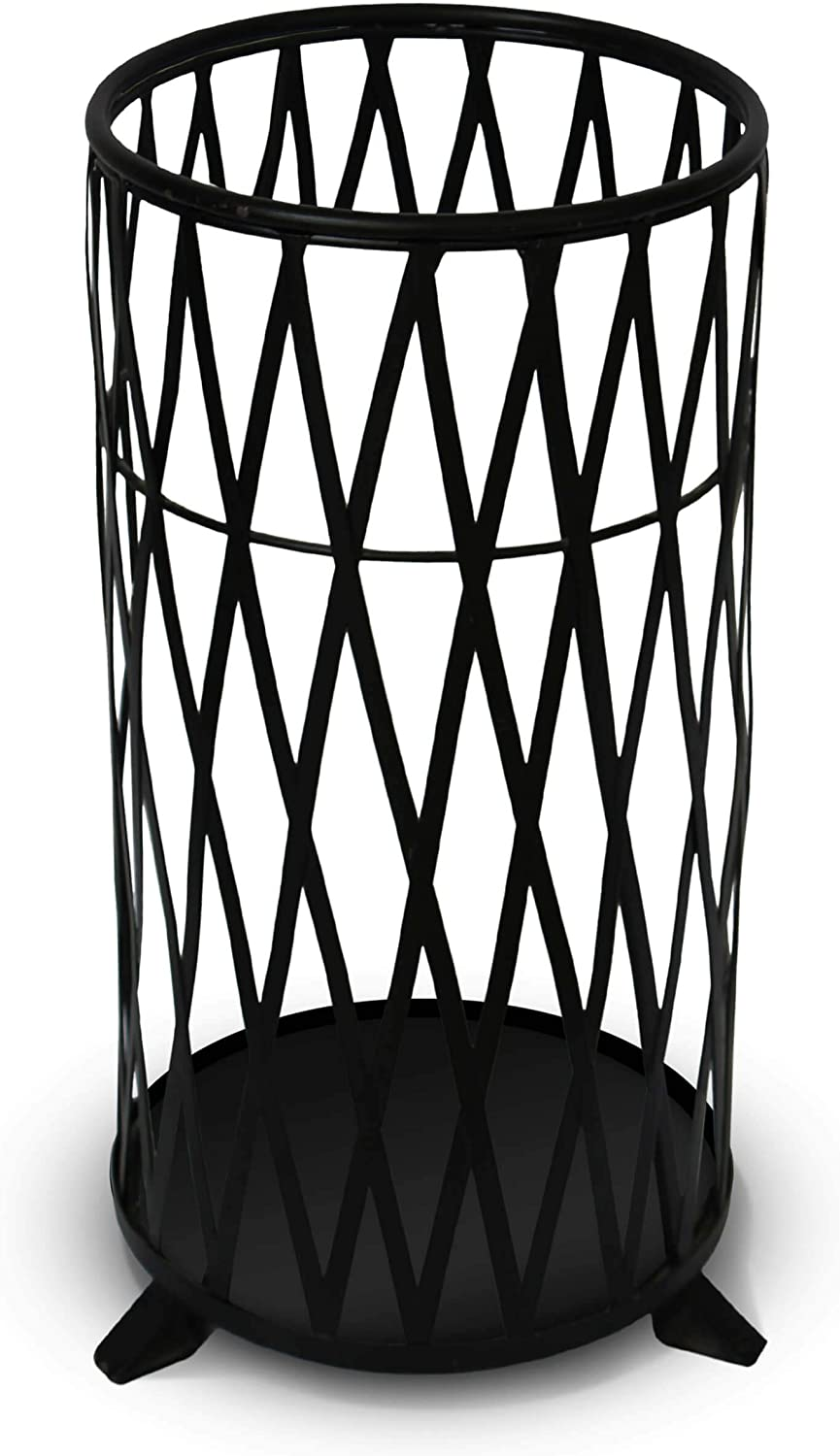 17 Rustic Metal Umbrella Stand – Rustic HANDCRAFTED Umbrella Holder For Home Indoor Outdoor. Rustproof Black Umbrella Rack and Cane Stand Handwoven Iron Umbrella Bucket Black – 17