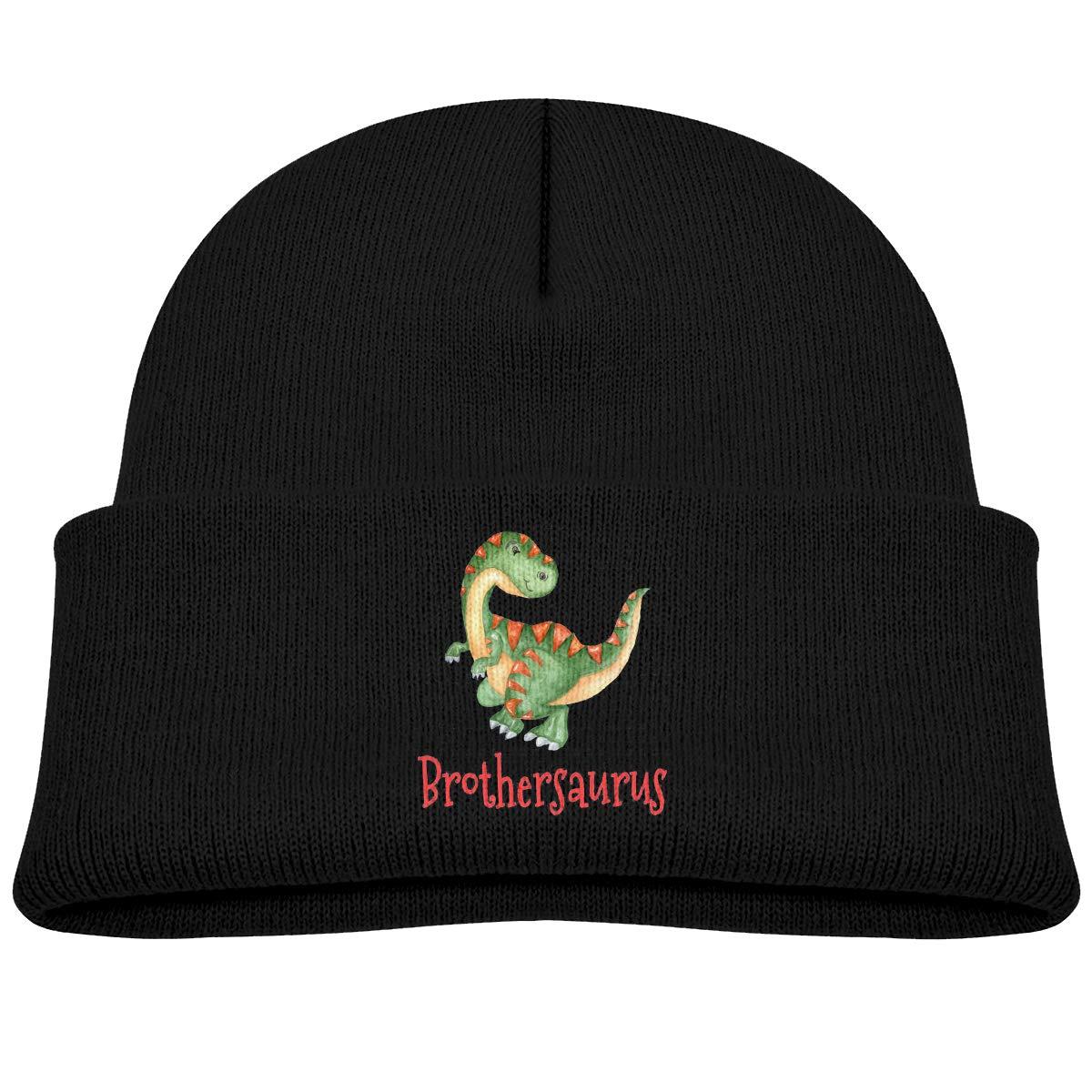 Brothersaurus Knitted Hat Classic Skull Beanies Boys Girls Cuffed Plain Cap