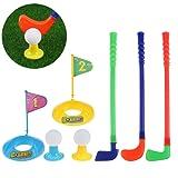 TOYMYTOY Children Kids Plastic Golfer Toy Golf Set Game Toy