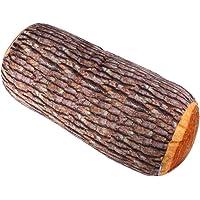 Cojín creativo 3D, tronco de árbol ginkgo, cojín con forma de tronco de madera natural, almohada cilíndrica con diseño de tronco…