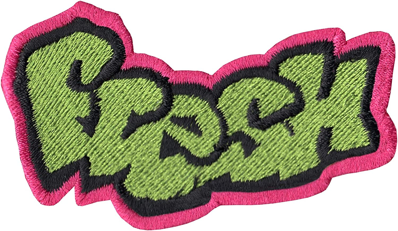 Fresh Graffiti Logo DIY Iron On Embroidered Applique Patch