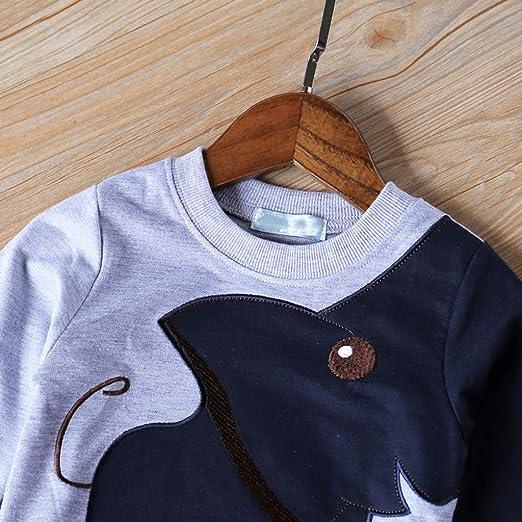 XXYsm Baby Sweatshirt M/ädchen Jungen Pullover Tops Unisex Lange /Ärmel Elefant drucken Blusen