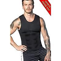 Faja Reductora Adelgazante Hombre Neopreno Camiseta Reductora Compresion de Sauna Deportivo