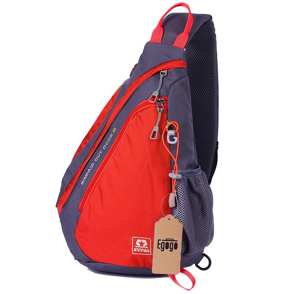 EGOGO Sac Bandoulière Corps de Sling Pack sac à dos Cross multifonctionnel Sac épaule