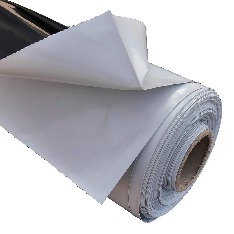 Mat/ériau : Poly/éthyl/ène r/ésistant aux intemp/éries B/âche de protection r/ésistante aux UV Couleur : noir//blanc utilisations multiples. 3 m Diff/érentes tailles : Largeur : 2 m