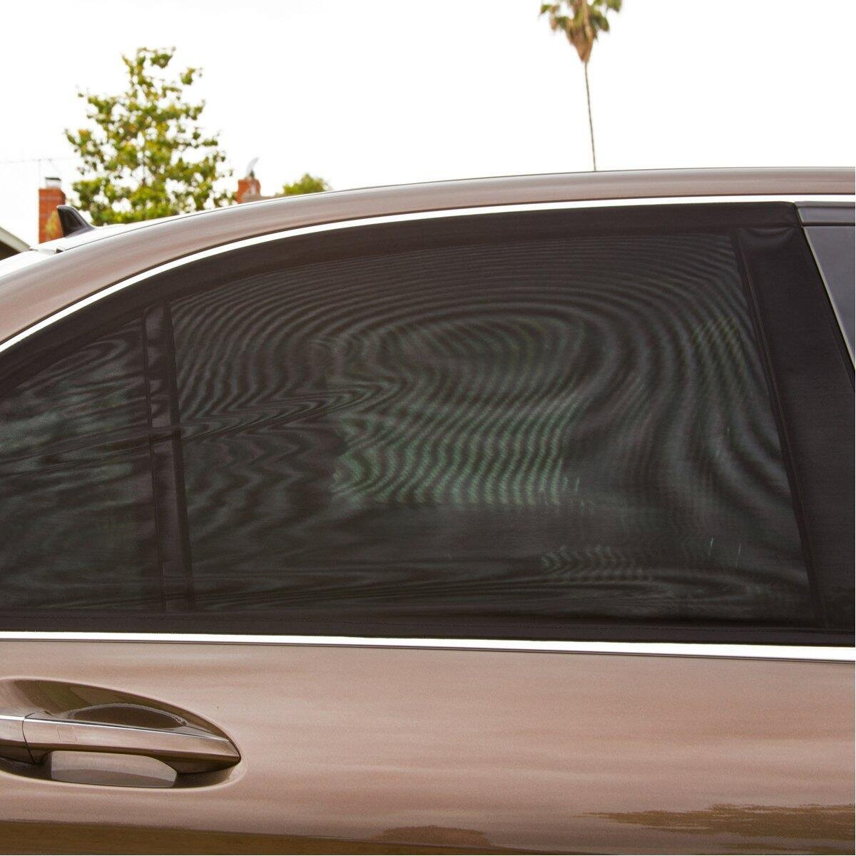 2 x Premium Quality Stretch Material Car Sun Shade Protects Baby Kids and Pets Tinabless Car Window Shades for Blocks UV Rays Car Sun Shades for Kids Covers Rear Side Windows Universal Fits!